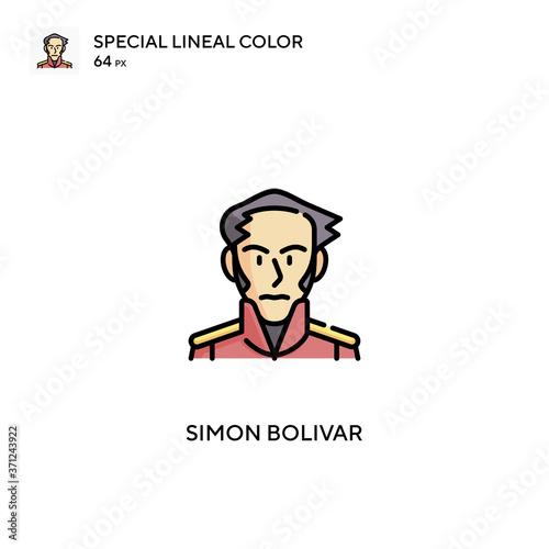 Fotomural Simon bolivar Simple vector icon