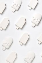 Set Of Gypsum Ice Cream.