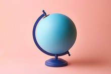 Empty Globe On Pink Background