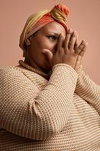 Sad African Woman Praying