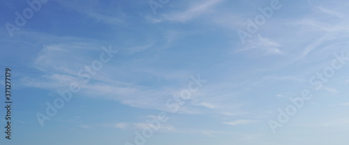 Sky blue background. Cloud clear Wallpaper Mural