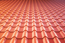 Red Tiled Roof - Background Texture