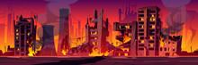 City In Fire, War Destroy, Aba...