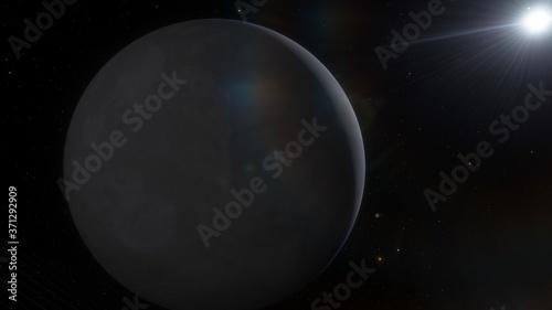 Valokuva science fiction wallpaper, cosmic landscape, beautiful galactic background, beau