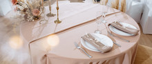 Romantic Table Setting In A Re...