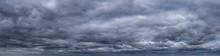 Panorama Of Cumulus Fluffy Whi...