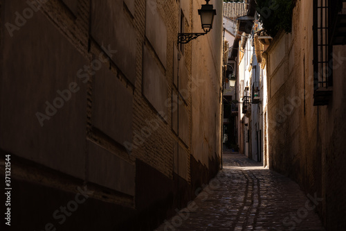 Fotografie, Obraz Streets from Albaicin neighborhood at Granada, Andalusia, Spain.