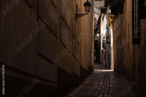 Fotografiet Streets from Albaicin neighborhood at Granada, Andalusia, Spain.