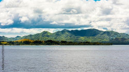 Zoom shot of the mountains and landscape of Ubay, Bohol Canvas Print