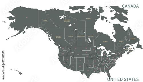 Fotografia North American Countries Map