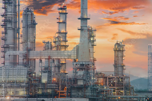 Canvastavla Oil refinery and industrial city After sunset