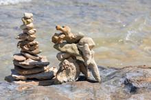 Stone Balance Sugli Scogli