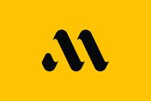 Minimal Innovative Initial MA Logo And AM Logo. Letter M MA AM Creative Elegant Monogram. Premium Business Logo Icon. Black Color On Background. M LOGO