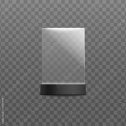 Plexiglass menu and cards desktop stand template vector illustration isolated Canvas Print