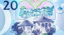 Basotho Huts. Portrait From Lesotho 20 Maloti 2010  Banknotes.
