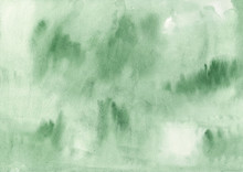 Green Watercolor Texture. High Resolution Background For Design. Oil Painted Backdrop.  There Is Blank Place For Your Text, Textures Design Art Work Or Skin Product.