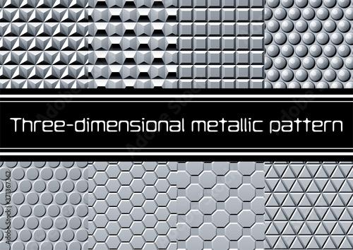 Obraz na plátne 立体的な金属の壁 イラストレーター用パターン集