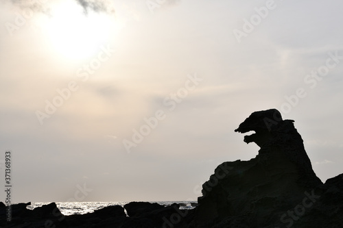 Fotografering 男鹿半島ゴジラ岩と海