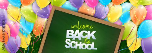 Valokuvatapetti Welcome back to school