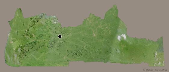 Sud, region of Cameroon, on solid. Satellite