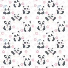Vector Pattern: Seamless Panda...