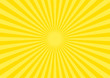 背景素材 集中線 放射線(黄色) B03