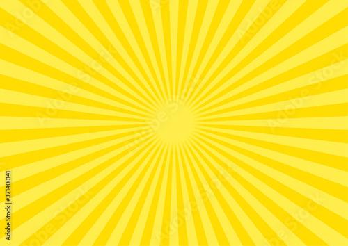 Fotografia 背景素材 集中線 放射線(黄色) B03