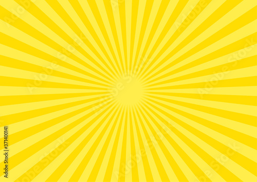 Photo 背景素材 集中線 放射線(黄色) B03