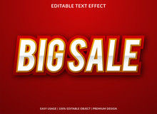 Big Sale Text Effect Template With Minimalist Style And Bold Font Concept Use For Brand Label And Promotion Tag