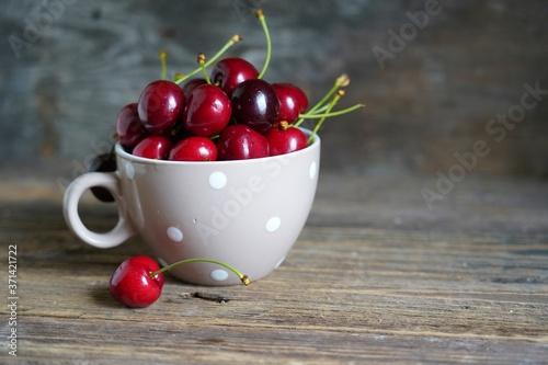 Fotografie, Obraz Red sweet cherries