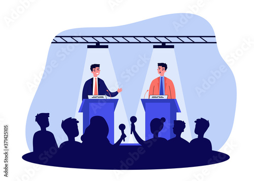 Political opponents arguing on debates Fototapet