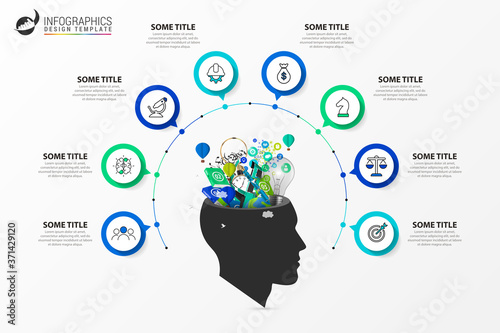 Infographic design template. Creative concept with 8 steps Fototapeta