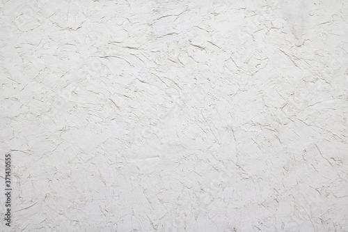 Fotografía White plaster painted putty wall.