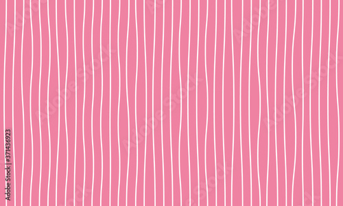 Cuadros en Lienzo White crooked twisted vertical line pattern on a pink background vector