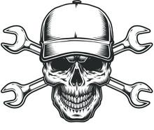 Vintage Monochrome  Skull.Mono...