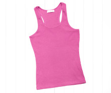 Hot Pink Tank Top On A White Background
