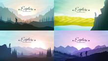 Vector Landscapes Set. Travel ...
