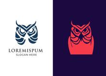 Owl Logo - Vector Illustration. Wise Hand Drawn Sitting Wise Owl, Owl Head Closeup Set.animal Geek Logo ,owl Wings Silhouette,geometric Abstract Owl,marine Animals Low Poly,owl Flying Logo Line Art  5
