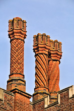 Chimney Pots On The Roof Of Th...