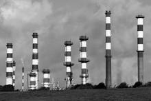 Chimneys Of Polution
