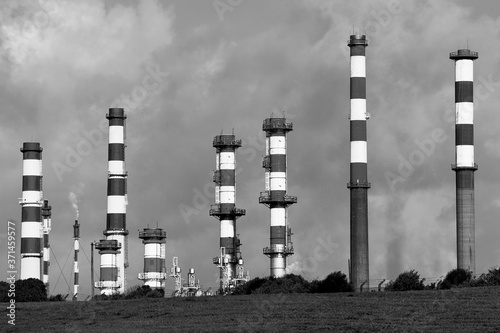 Fototapeta Chimneys Of Polution