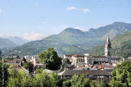 A view of Lourdes in France Wallpaper Mural
