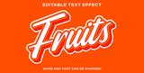 Fototapeta Młodzieżowe - Text effect style fruits