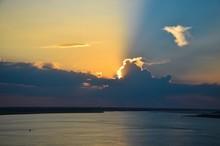 Sunset In Marshland Near Bruns...