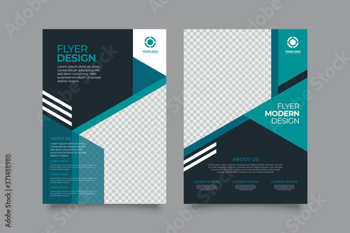 Obraz Corporate business annual report brochure flyer design. Leaflet cover presentation. Flier with Abstract geometric background. Modern publication poster magazine, template A4 flyer - fototapety do salonu