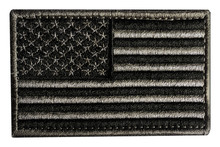 American Flag Military Patch Isolated.