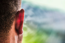 Close Up Of Ear Of Caucasian M...