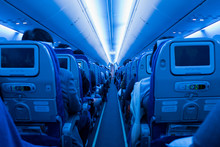 Aisle In Full Airplane