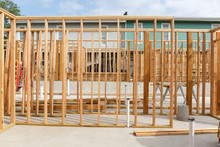 Wooden Frame On Construction Site