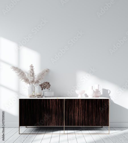 Obraz Modern Interior Background - 3d Rendering, 3d Illustration  - fototapety do salonu
